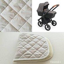 Textil - Podložka do vaničky Neonato PURO 100% merino ELEGANT Sand béžová - 10112125_