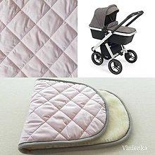 Textil - Podložka do vaničky Neonato PURO 100% merino ELEGANT POWDER PINK pastelová púdrová ružová - 10112407_