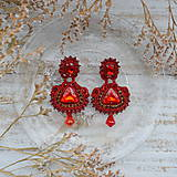 Náušnice - Ultimate Red -  sutaškové náušnice - 10114013_