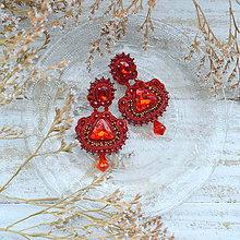 Náušnice - Ultimate Red -  sutaškové náušnice - 10114015_