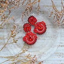Náušnice - Ultimate Red  n.2-  sutaškové náušnice - 10114020_