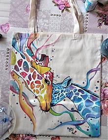Nákupné tašky - Taška so žirafami - 10111115_