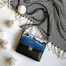 Kabelky - Kožená kabelka (ručne maľovaná kabelka Landscape) - 10112037_