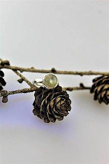 Prstene - labradorit prsteň striebro - nastaviteľný - 10112748_