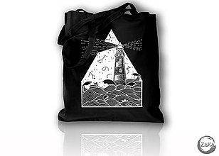 Nákupné tašky - Nákupná čierna taška - Maják - 10111044_