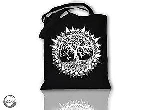 Nákupné tašky - Nákupná čierna taška - Strom - 10111097_