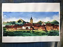 Obrazy - obraz Spišská Sobota a Tatry - 10110191_