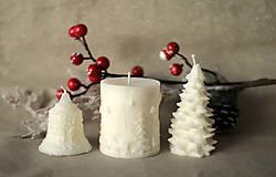 Svietidlá a sviečky - Sada vianočných sviec  (Biela) - 10113866_