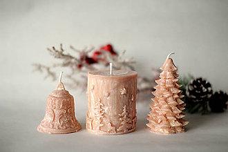 Svietidlá a sviečky - Sada vianočných sviec  (Béžová) - 10113886_