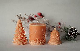 Svietidlá a sviečky - Sada vianočných sviec  (Oranžová) - 10113908_