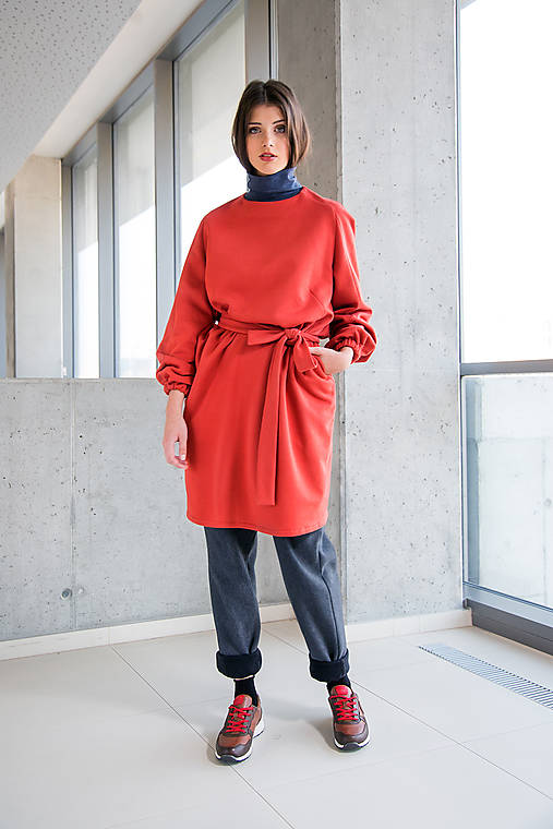 červené šaty No.31   DesignDictat - SAShE.sk - Handmade Šaty 264f685d47