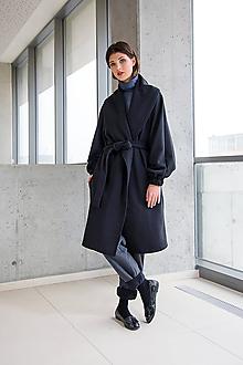Kabáty - Černý kabát No.45 - 10111325_