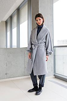 Kabáty - Svetlo šedý kabát No. 43 - 10113460_