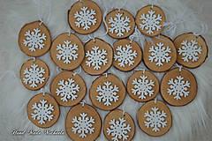 Dekorácie - vianočné koliečka s vločkou - 10111193_