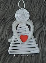 Dekorácie - anjelikovia na stromček - 10111361_