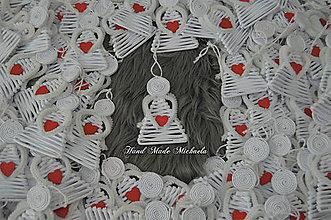 Dekorácie - anjelikovia na stromček - 10111362_