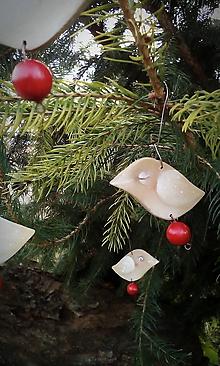 Dekorácie - Opäť vianočné vrabce II. - 10111835_
