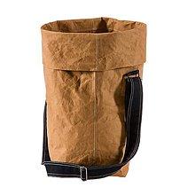 Veľké tašky - Kabelka MARIE bronze, nastaviteľný popruh  tmavá rifľovina - 10113917_