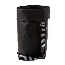 Veľké tašky - Kabelka MARIE čierna, nastaviteľný popruh pruhovaný - 10113994_