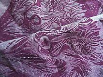 Textil - Luluna The Wolf Burgund Snow - 10109216_