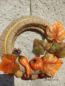 Dekorácie - Originálny venček Jeseň 1 - 10110593_