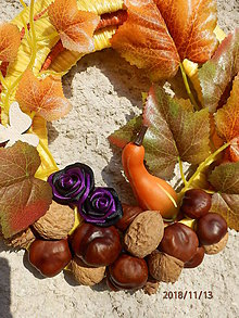 Dekorácie - Originálny venček Jeseň 2 - 10110700_