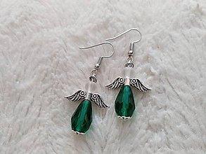 Náušnice - Náušnice Zelený anjel - 10111232_