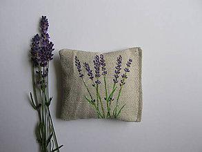 Úžitkový textil - Levanduľový mini vankúšik - 10112668_