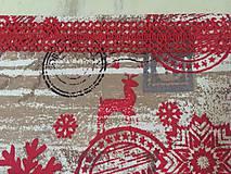Úžitkový textil - merry christmas s čipkou - 10111659_