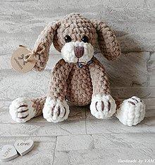 Hračky - Háčkovaný psíček - 10111828_