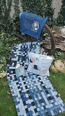 Úžitkový textil - Koberec recy denim - 10112760_