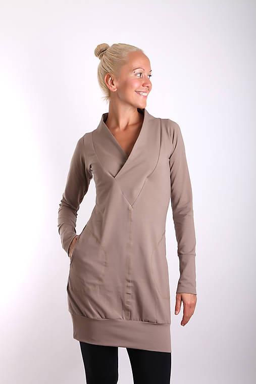 Šaty - ... costa de la luz... beige dress - 10109283_