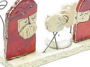 Svietidlá a sviečky - betlehem svietnik  červený  (Červená) - 10110239_
