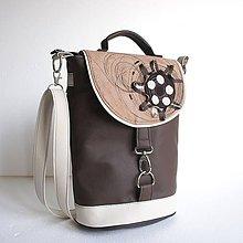 Veľké tašky - Aktovečka - káva a hnedá - 10112186_