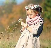 - Šátek růžový s béžovými kytičkami - 10114026_