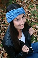 Čiapky - Čelenka dámska bledomodrá - 10110530_