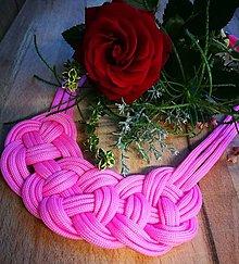 Náhrdelníky - Ružový náhrdelník - 10111281_