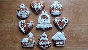 Dekorácie - Zasnežené Vianoce sada - 10111256_