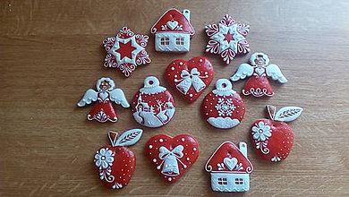 Dekorácie - Bielo červené Vianoce - 10110154_
