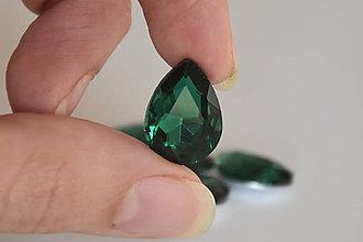 Komponenty - Kabošon sklenený emerald 13x18mm, 0.35€/ks - 10112544_