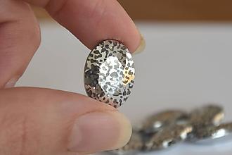Komponenty - Kabošon sklenený lux patina 13x18mm, 0.95€/ks - 10112820_