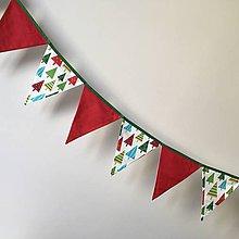 Dekorácie - Vlajky vianočné stromčekové (Zelená) - 10111963_