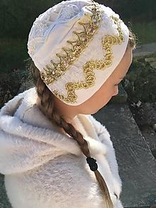 Iné oblečenie - Zlatý svadobný čepiec - 10111495_