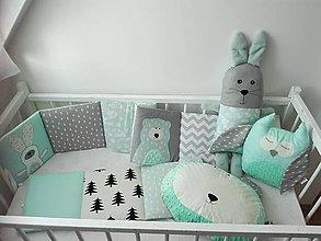 Textil - SET: Mantinel 240x30 /sova /hlava maca/ zajko tuľko/ - 10118039_