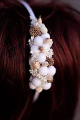 Ozdoby do vlasov - Čelenka zimná biela - 10117276_