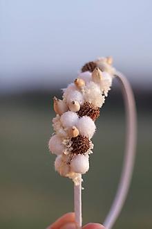 Ozdoby do vlasov - Čelenka zimná biela - 10117278_