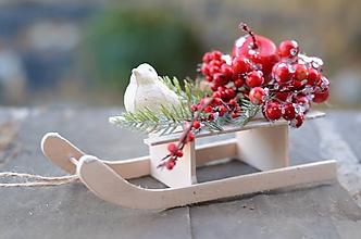 Dekorácie - Vianočné sánky - 10114890_
