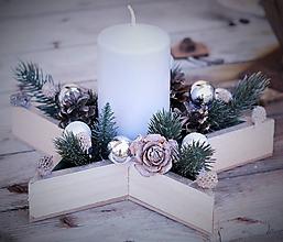 Dekorácie - Vianočná hviezda - 10114941_