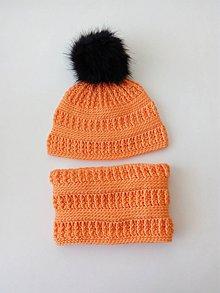Iné doplnky - Oranžový háčkovaný set - 10114912_