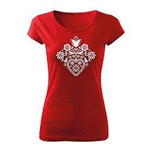 Tričká - Kvetované srdce - 10116656_